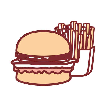 pastel colored burger over white background vector illustration
