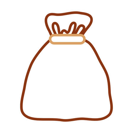 sack icon over white background, colorful line design. vector illustration Illustration