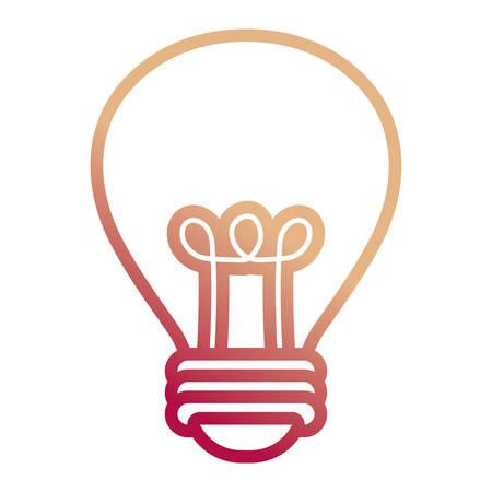 light bulb icon over white background, colorful design. vector illustration Illustration