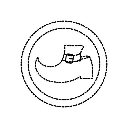 Leprechaun boot icon over white background vector illustration.