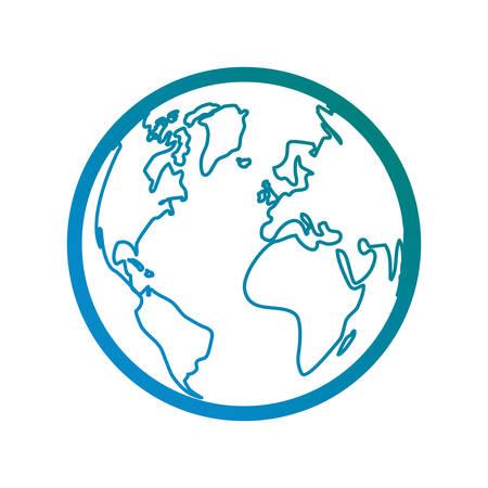 earth planet icon over white background vector illustration Ilustração