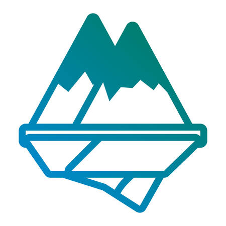 alps mountains icon over white background vector illustration