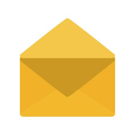 Envelope icon image illustration on white background. Illustration