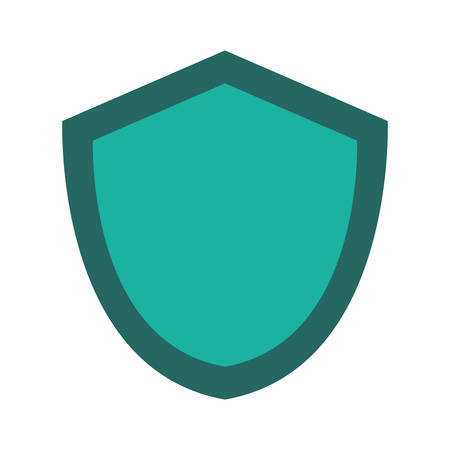 Security shield icon illustration on white background. Vectores