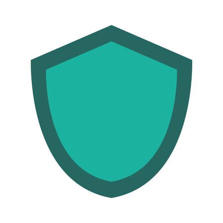 Security shield icon illustration on white background. 向量圖像