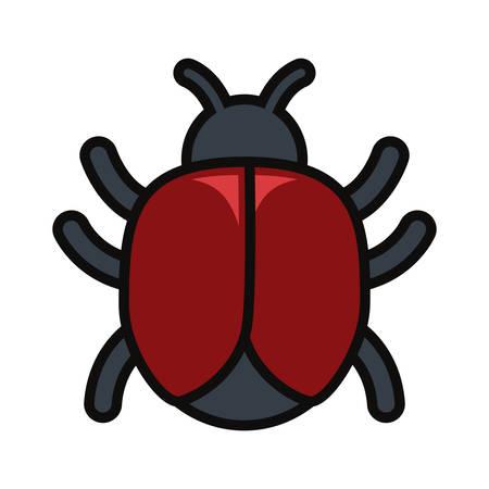 Bug icon image illustration on white background.