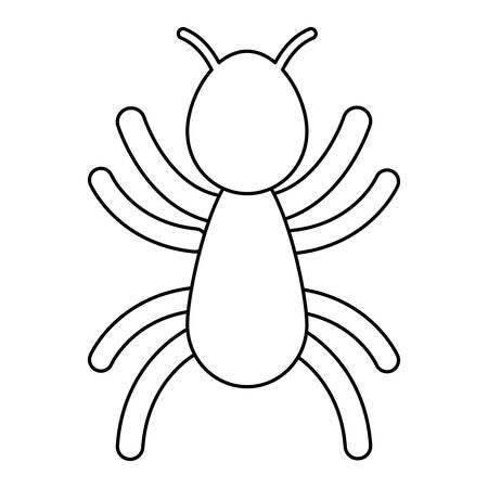 ant icon over white background vector illustration Vettoriali