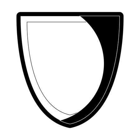 Security shield icon over white background vector illustration Vectores