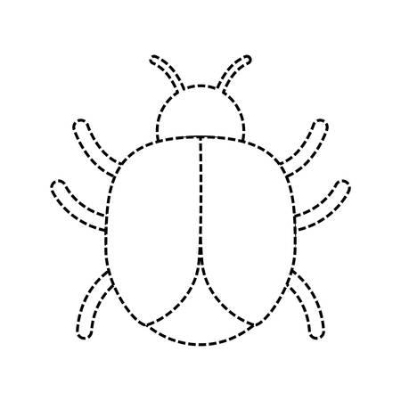 bug icon over white background vector illustration