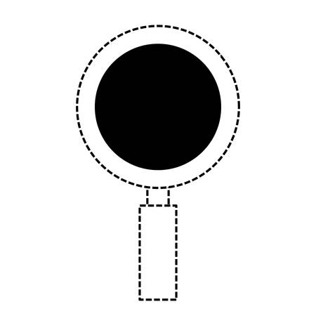 Magnifying glass icon over white background vector illustration.