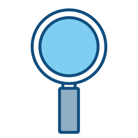 Magnifying glass icon over white background, colorful design. vector illustration