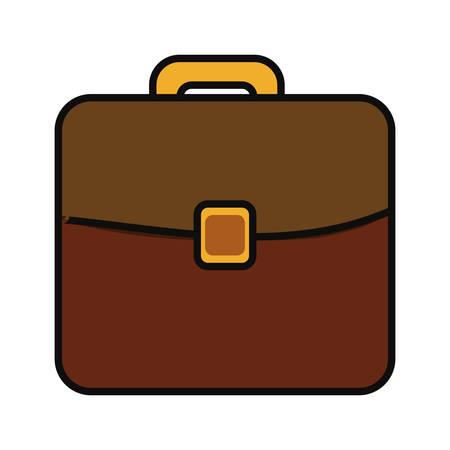 Portfolio briefcase icon over white background vector illustration.