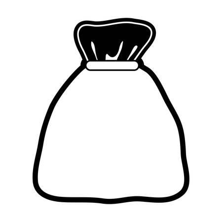 Sack icon over white background vector illustration