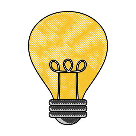 light bulb icon over white background, colorful line design. vector illustration
