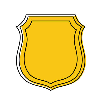 Security shield icon over white background vector illustration Illustration