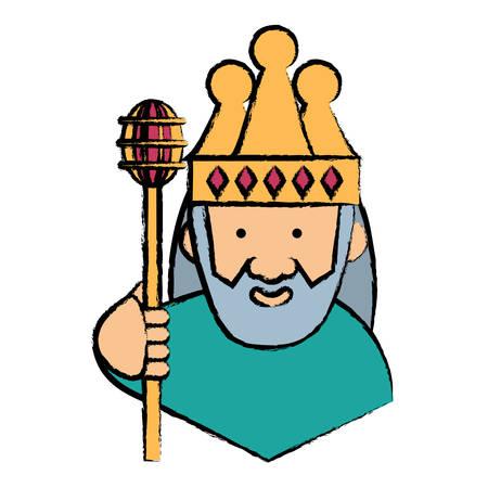 Cartoon king icon Stock Illustratie