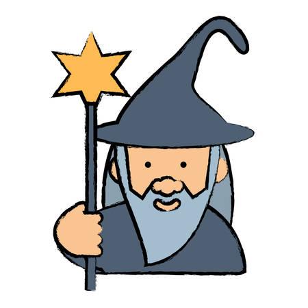 cartoon wizard icon image