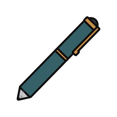 Pencil icon isolated on white. Illustration