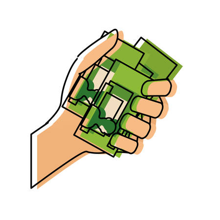 hand with id cards icon Illustration