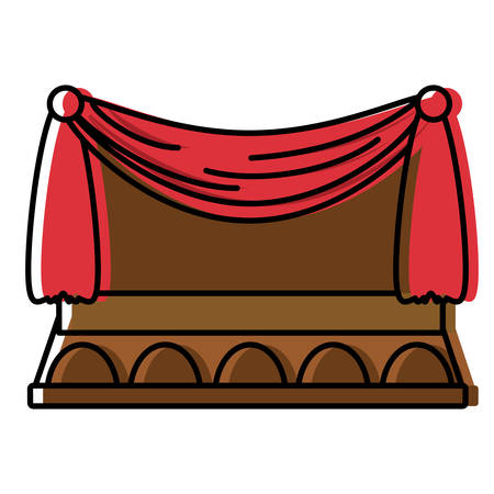 theater curtains design Illustration