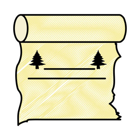 Old paper scroll icon