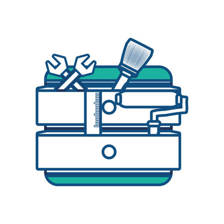 Toolbox with repair tools icon over white background vector illustration. Illustration