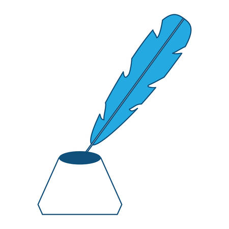 feather and ink bottle icon Illustration