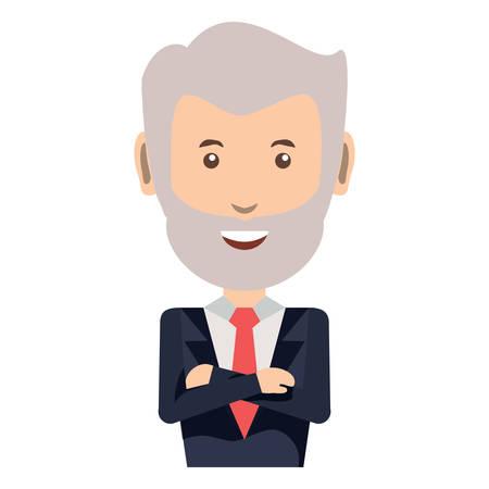 cartoon businessman icon Stock Illustratie