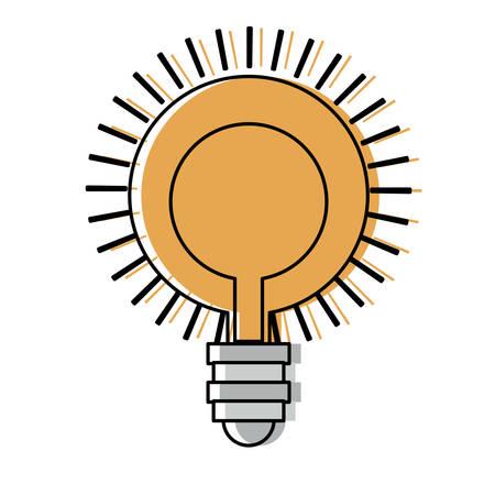 bright light bulb icon over white background, colorful design  vector illustration Illustration