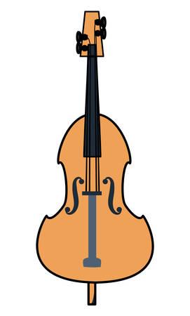 cello instrument icon over white background, colorful design vector illustration