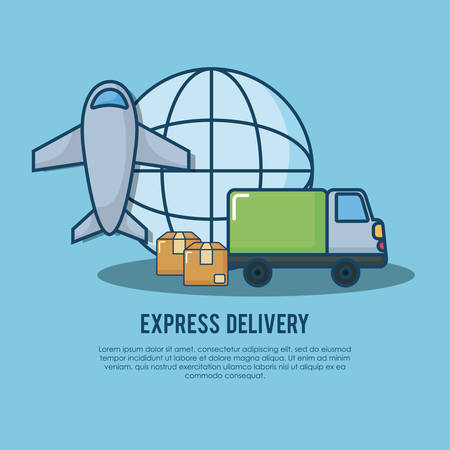 Express delivery design template