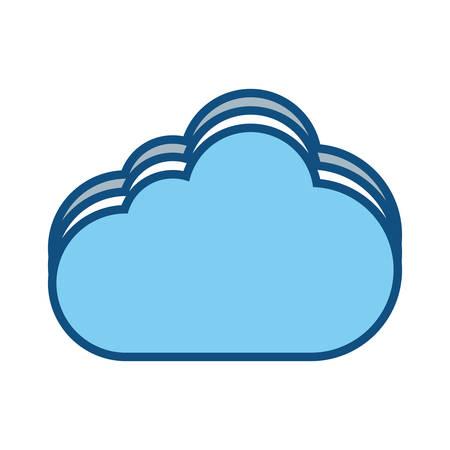 cloud vector illustration Иллюстрация
