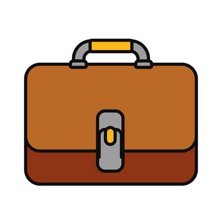 Briefcase portfolio icon over white background, colorful design vector illustration
