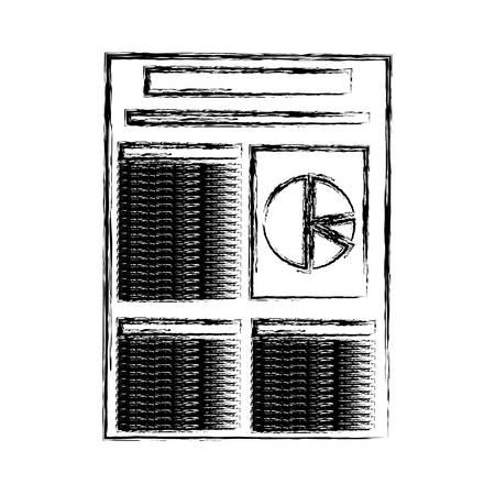 Financial report document icon Illustration