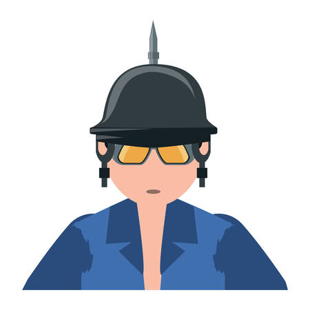 A cartoon motorcycle biker with spiked helmet over white background, colorful design vector illustration Illustration