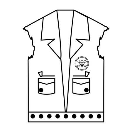 Biker jacket icon Ilustração