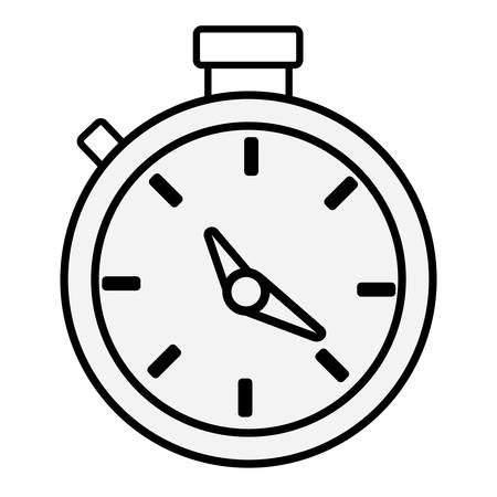 Chronometer icon image line style,  black and white illustration.