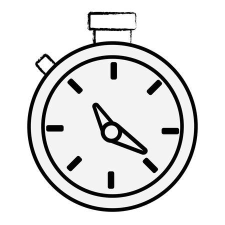 sketch of chronometer icon over white background vector illustration Illustration