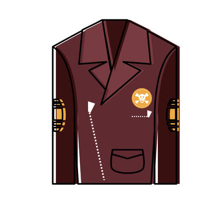 Biker jacket icon Illustration