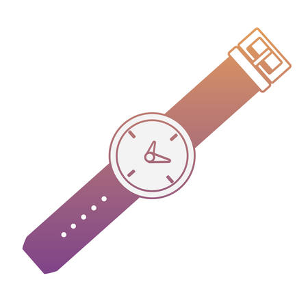 watch icon over white background, colorful design vector illustration