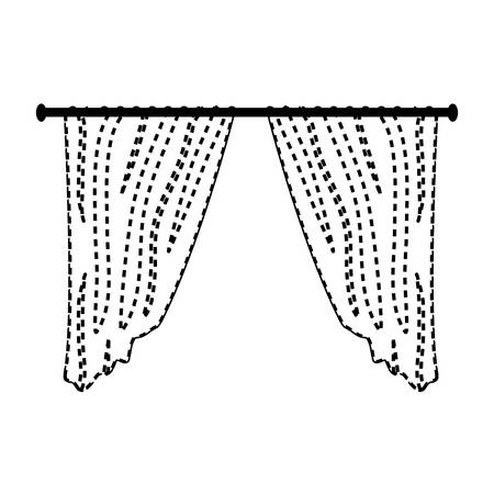 home curtains icon over white background vector illustration