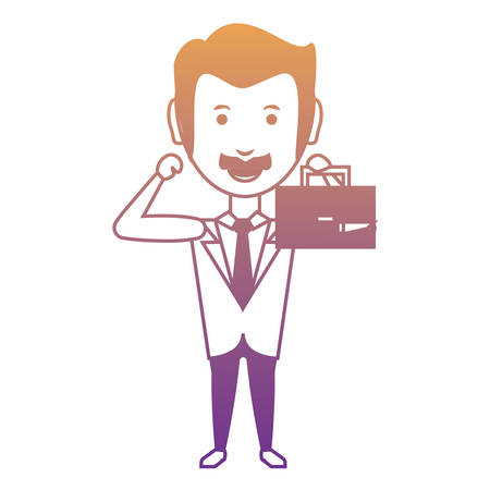 Cartoon businessman icon Vector illustration. Illustration