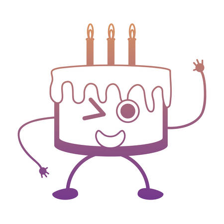 Kawaii Birthday Cake Icon Royalty Free Cliparts Vectors And Stock
