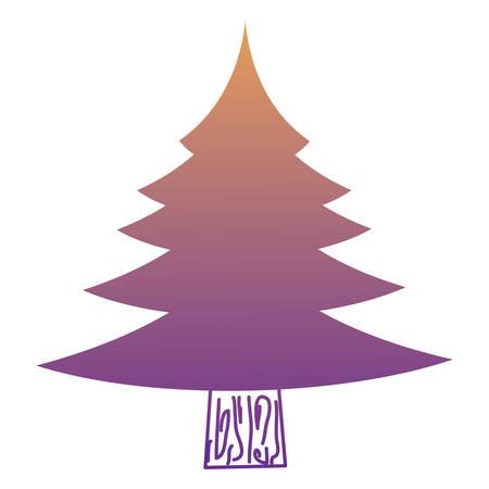 Pine tree icon image vector illustration.