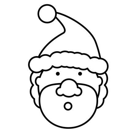 Cartoon surprised santa claus  icon over white background vector illustration Illustration