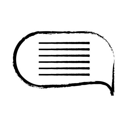sketch of Speech bubble icon over white background vector illustration Ilustração