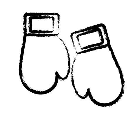 Boxing gloves design Illustration