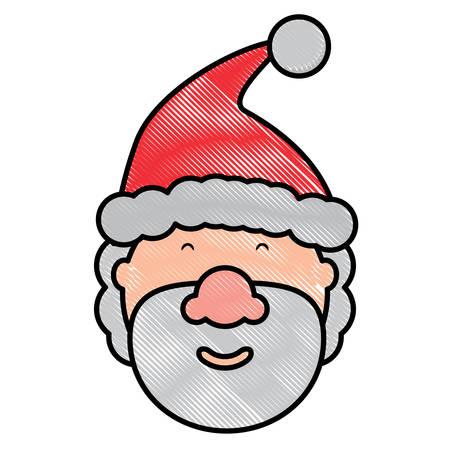 Cartoon santa claus icon Illustration