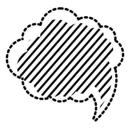 speech cloud with striped design icon over white background vector illustration