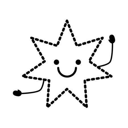 excited star icon over white background vector illustration Vectores